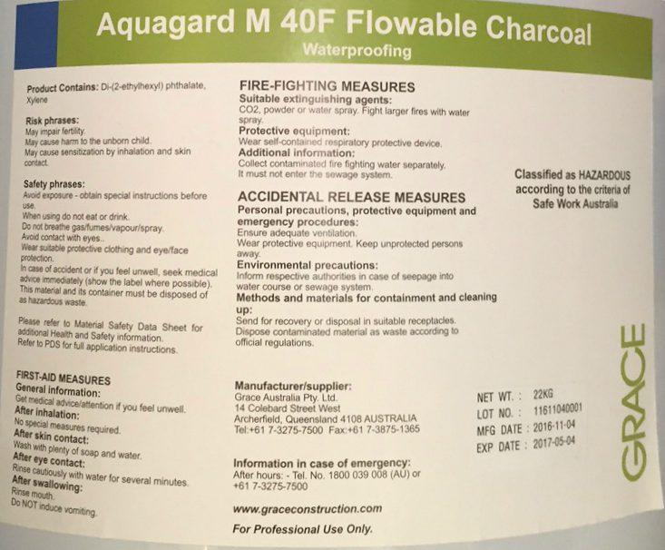 Aquagard M 40F Flowable Charcoal